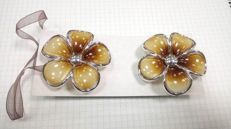 Магниты для штор Цветы  (пара) V3, фото 2