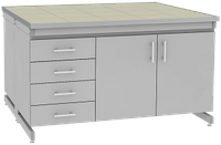 Стол лабораторный островной UOSLab СЛО-3.081.053 1200х1400х900мм