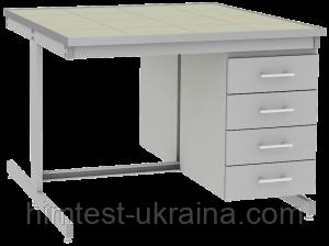 Стол лабораторный островной UOSLab СЛО-3.041.053 1200х1400х900мм - ООО «Химтест Украина+» в Харькове