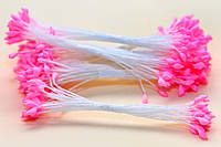 Тычинки Тайские,розовые,каплевидные,белая нить
