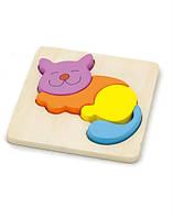 """Пазл Viga Toys """"Кошка"""", развивающие пазлы, деревянные пазлы"""