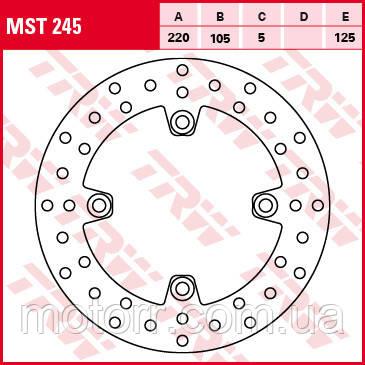 Тормозной диск TRW-Lucas MST245