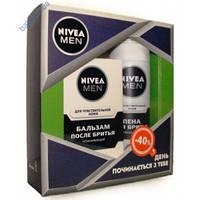 Набор Nivea Men Для чувствительной кожи (пена для бритья + бальзам после бритья)Германия.