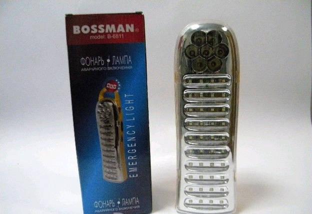 Фонарь/лампа Bossman 7 LED + 40 SMD LED, B-6811, фото 2
