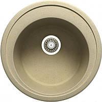 Гранитная мойка круглая, модель №01, сток уценка
