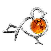 Янтарь Прибалтика, серебро 925, кулон, 136ПЯ
