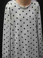 Трикотажне плаття в горошок., фото 1