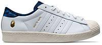 Мужские кеды Adidas Consortium X UNDFTD X Bape Superstar 80V (Адидас) белые