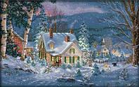 Вышивка крестиком набор Снежная ночь 55х37 см (арт. MK018), фото 1