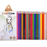 Олівці кольорові 24 кол, Marco ColorCore