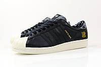 Мужские кеды Adidas SS80V Superstar UNDFTD X Bape (Адидас) чёрные