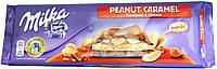 Шоколад молочный Milka Peanut Caramel 300г.