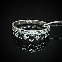 Серебряное кольцо Корона со вставками из фианита, 20 камней