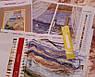 Вышивка крестиком набор Любопытные котики 29х55 см (арт. MK069) канва СТ14, фото 2