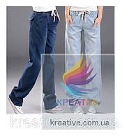 Широкие джинсовые брюки с вашим логотипом (под заказ от 30-50 шт)