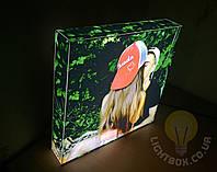 Фотосветильник 30х30см - 3D светильник с вашим фото. Оригинальный подарок., фото 1