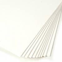 Фоамиран листовой белый 20х30 см, толщина 1 мм
