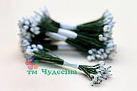 Тычинки Тайские,белые ,каплевидные,зелёная нить