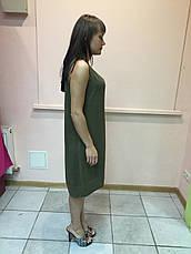Платье женское туника сарафан без рукава болотный цвет Massimo Dutti, фото 2