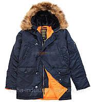 Зимняя куртка аляска Slim Fit N-3B Parka Alpha Industries, США (синяя)