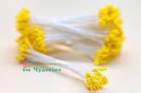 Тычинки Тайские,желтые,каплевидные,белая нить
