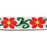 Лента тканная 1 см./3 цвета; белая основа 2.