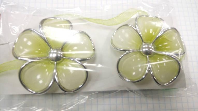 Магниты для штор Цветы  (пара) V5, фото 2