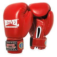 Боксерские перчатки ФБУ одноцветные REYVEL кожа 10 и 12 oz. Красный и синий Красный