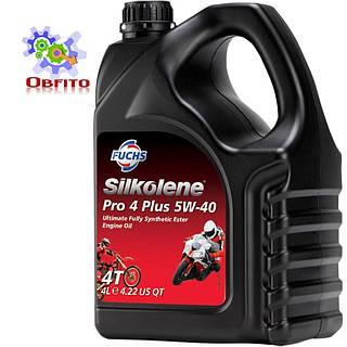 """Синтетическое эфирное моторное масло """"Silkolene PRO 4 Plus 5W-40', 4л"""