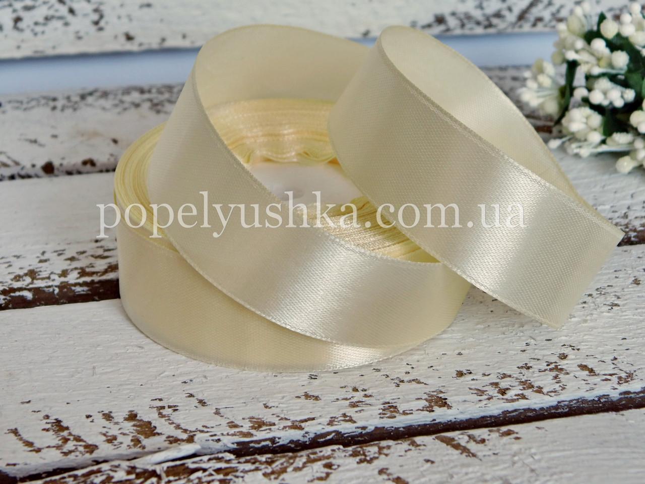 Стрічка атласна 2,5 см молочна