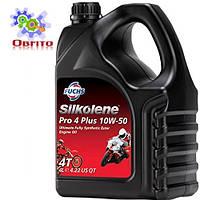"""Синтетическое эфирное моторное масло """"Silkolene PRO 4 Plus 10W-50', 4л"""