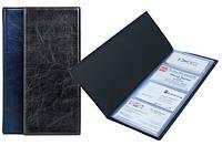 "Визитница 80 визиток, ""Xepter"" синий. AXENT"