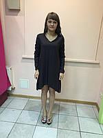 Платье женское туника с рукавом темный цвет  s.Oliver