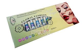 Гель краски набор Global fashion Pastel,12 шт по 5 мл