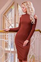 Платье футляр из трикотажа-резинки