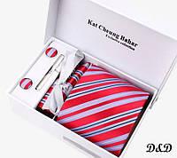 Набор галстук платок запонки зажим