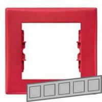 Рамка 5-местная Цвет: красный