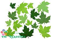 Весенние листья клёна из фетра