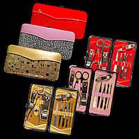 Маникюрный набор в декорированном футляре, 10 инструментов