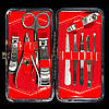 Маникюрный набор в декорированном футляре, 10 инструментов, фото 4