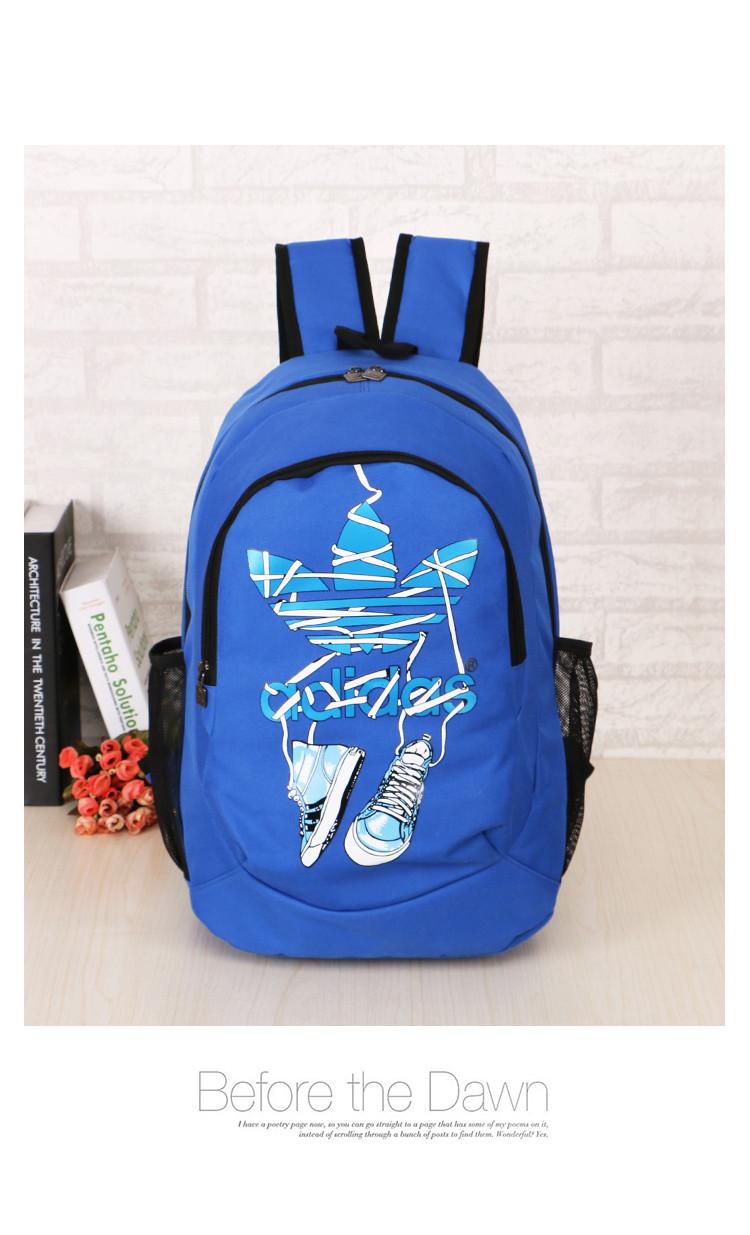 Спортивный рюкзак Adidas синий с кедами (реплика)