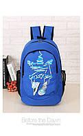 Спортивный рюкзак Adidas синий с кедами