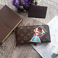 Женский кожаный кошелек Louis Vuitton кожаный кошелек на молнии