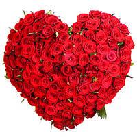"""Сердце """"Престиж"""" 101 красная роза"""