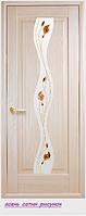 """Дверное полотно ''De Luxe'' """"Волна""""  стекло рисунок"""