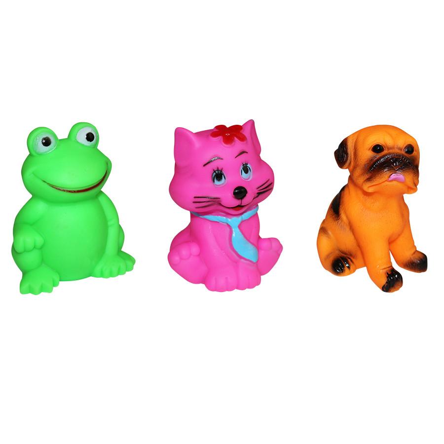 Набор резиновых игрушек-пищалок (3 шт). арт. 8847