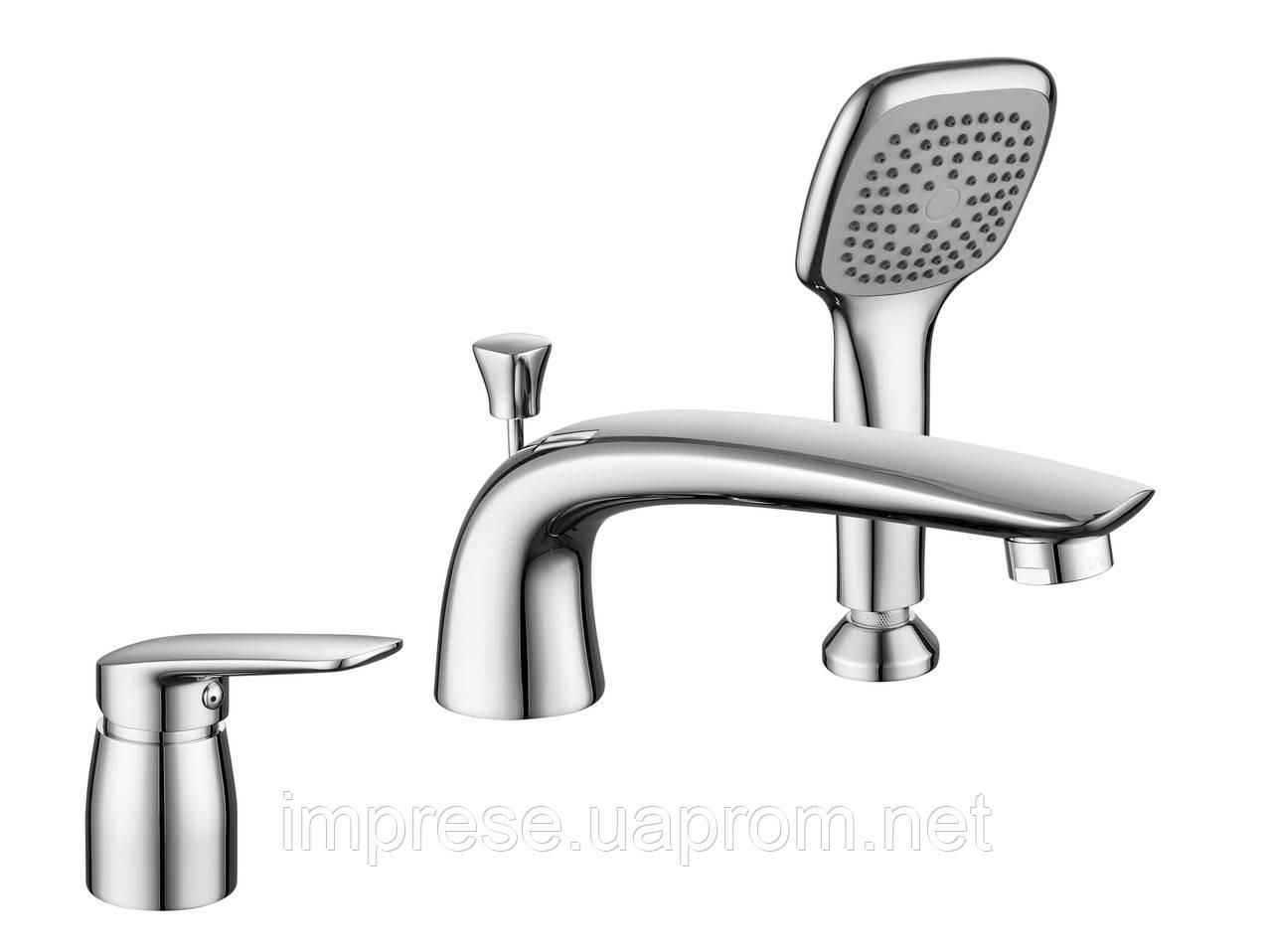 Смеситель для ванны врезной на три отверстия Praha new 85030 new
