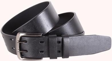 Надежный кожаный мужской ремень UK888-44 ДхШ: 125х4 см, черный