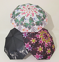 Женский зонт полуавтомат цветы