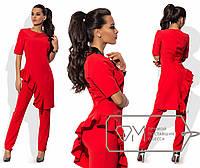 Костюм женский, брюки и ассиметричная блуза, размер 42,44,46,48. В наличии 4 цвета